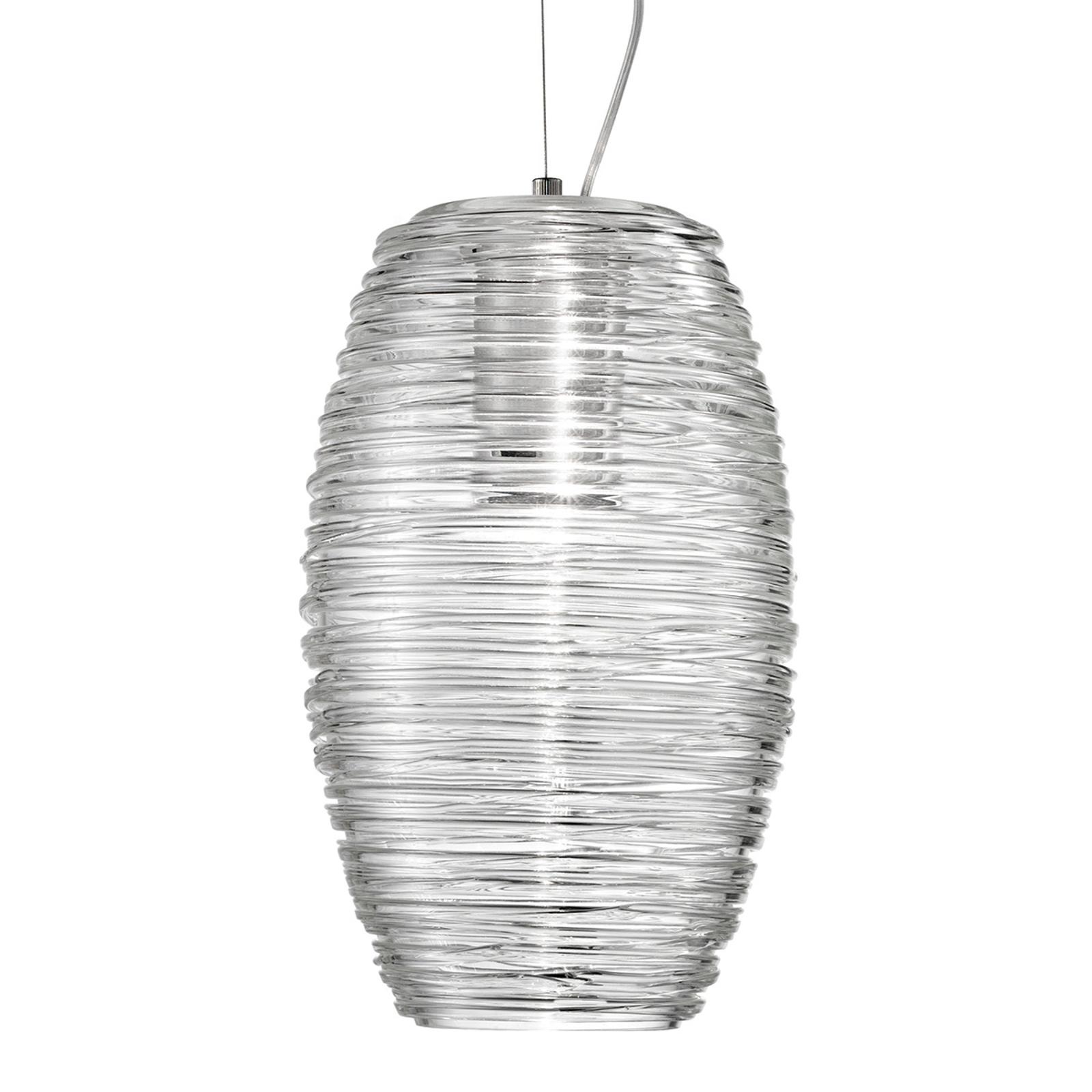 Suspension LED Damasco transparente Ø 15cm