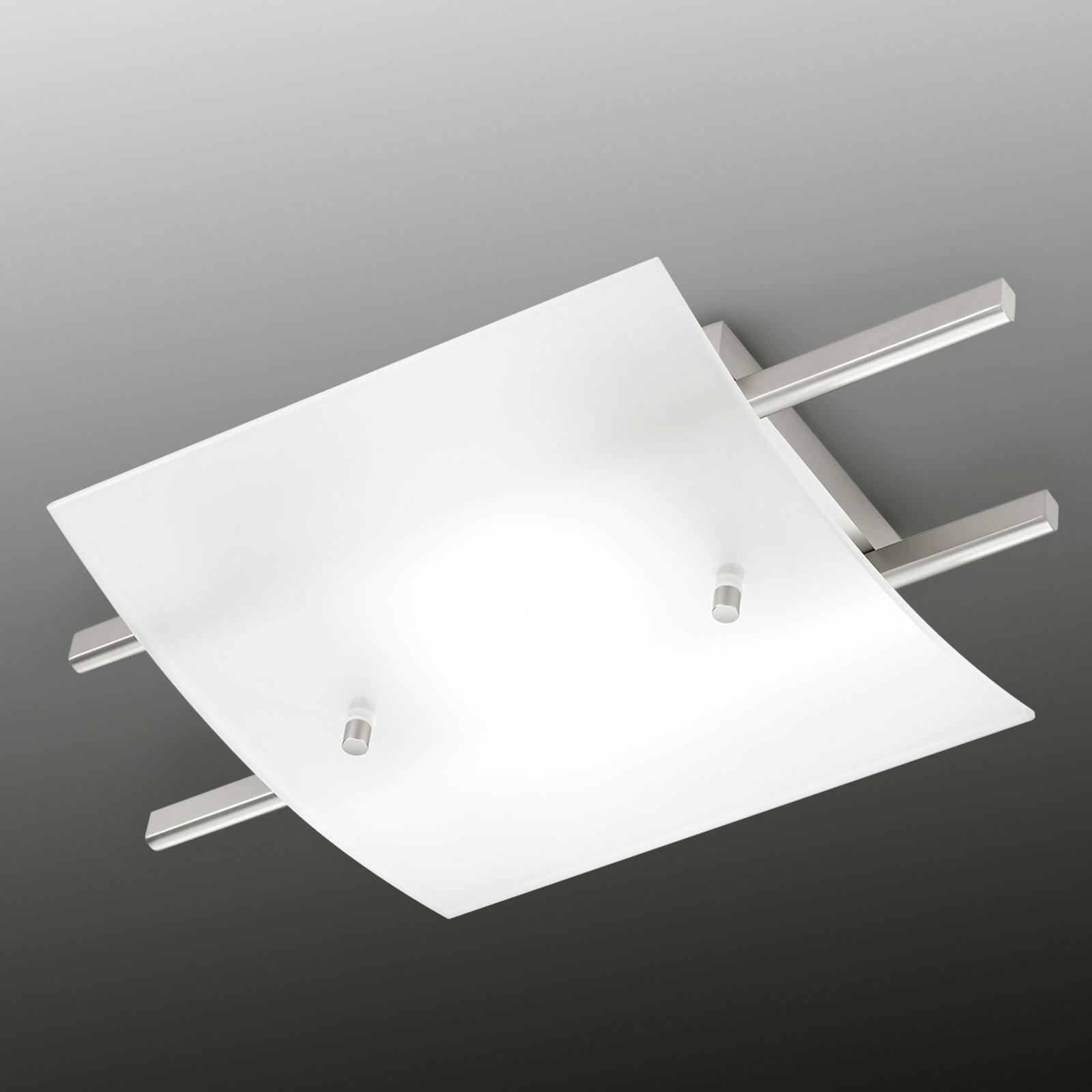 MARIE - lampa sufitowa LED z satynowym kloszem