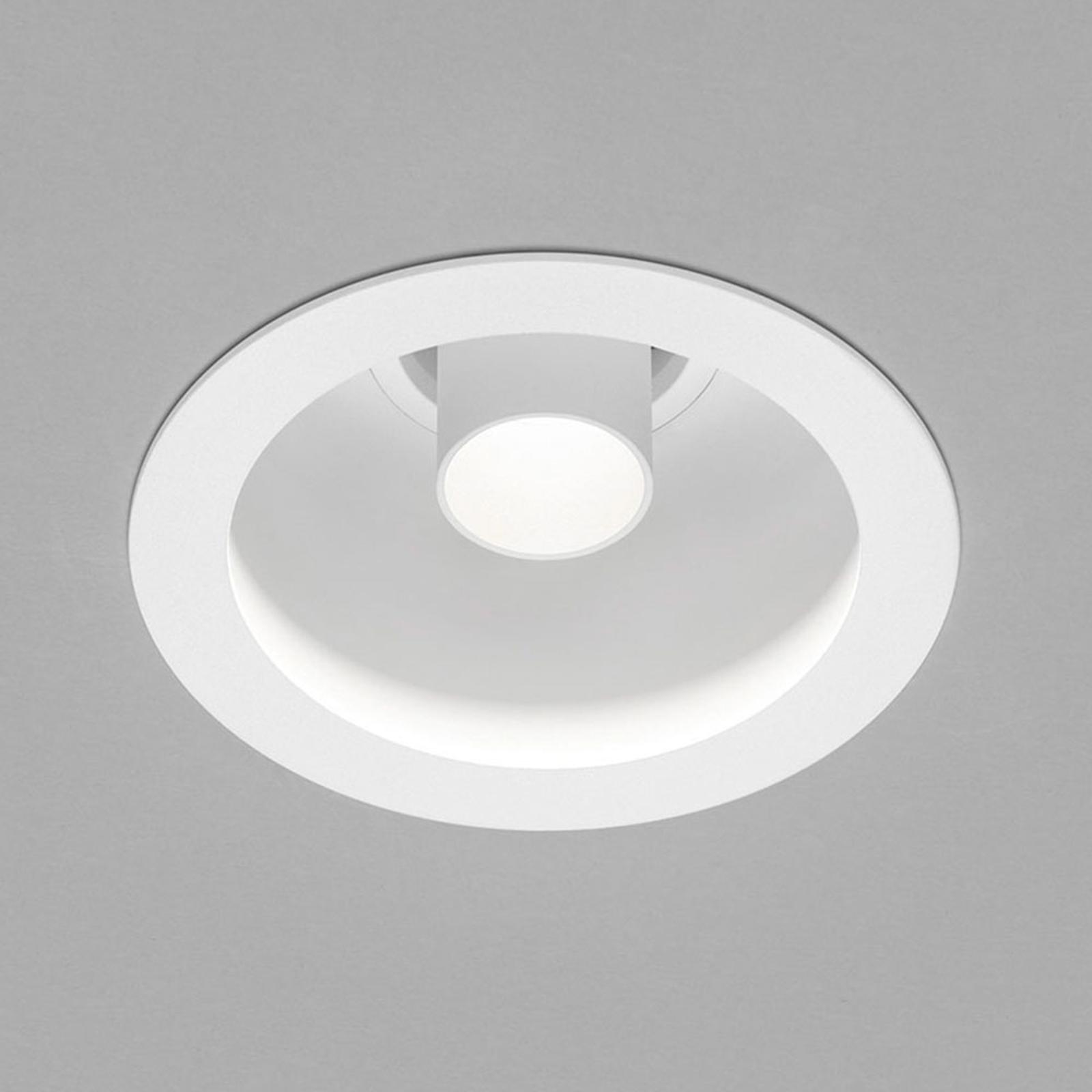 Helestra Run LED inbouwspot 1-lamp, wit/wit