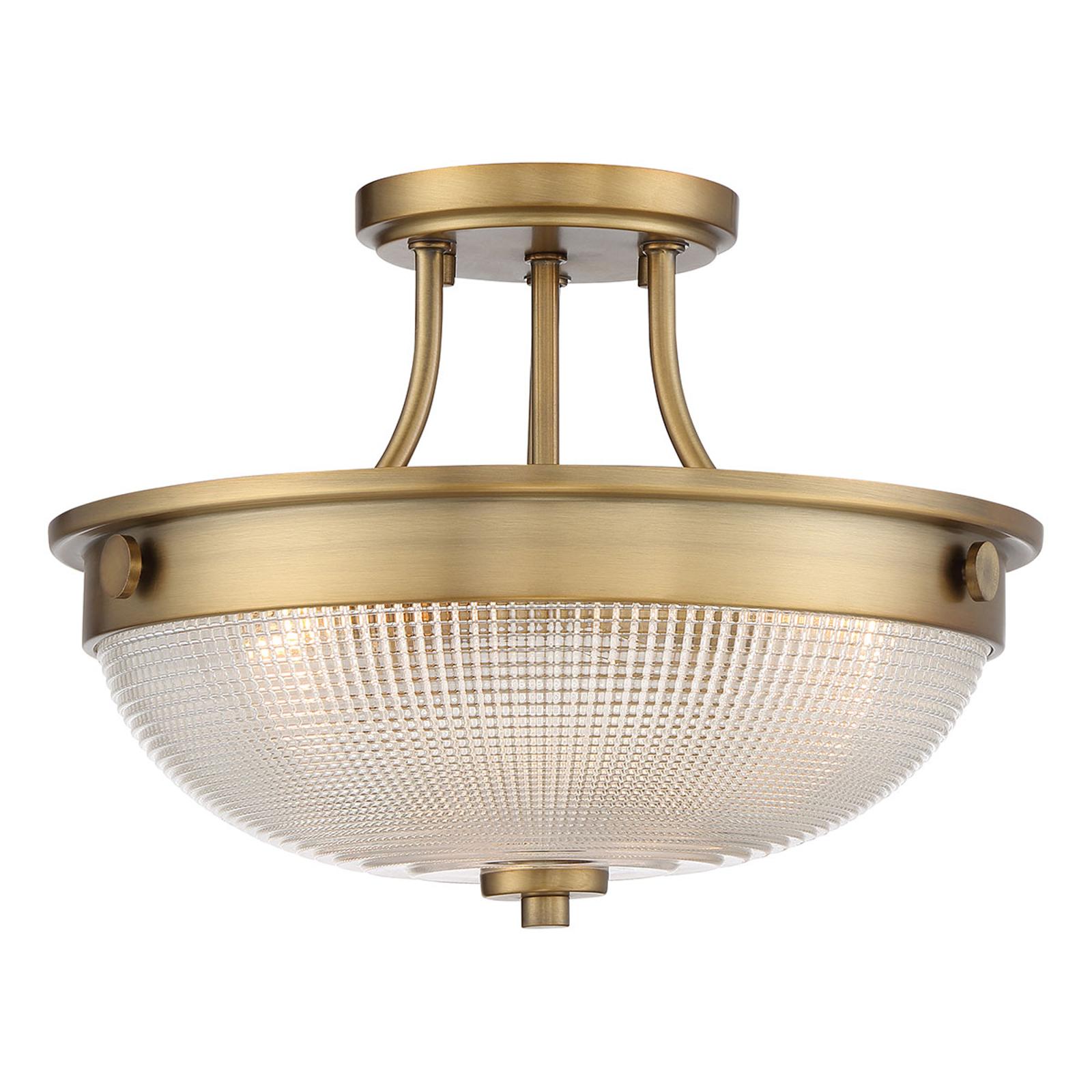 Lampa sufitowa Mantle z dyfuzorem, stary mosiądz