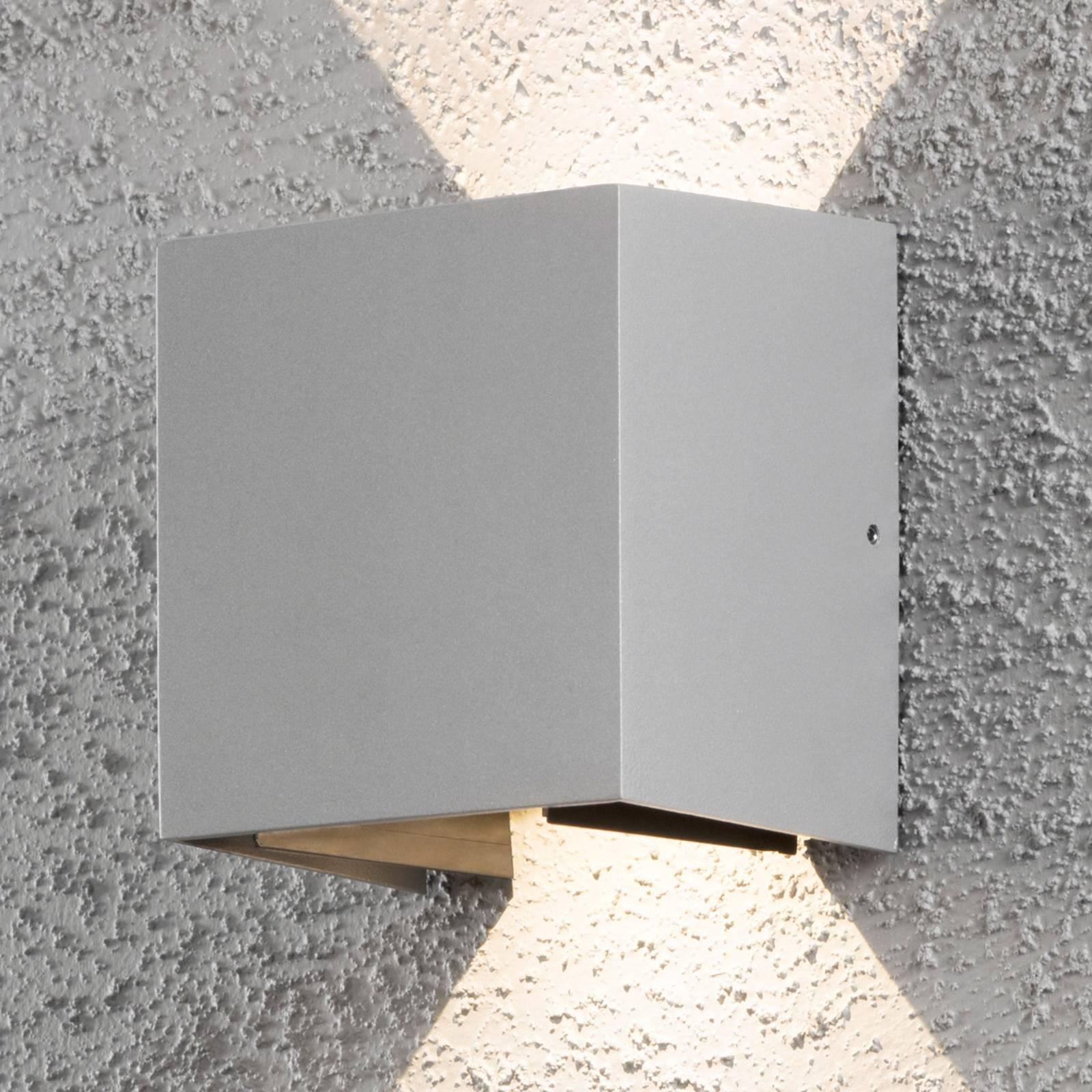 LED buitenwandlamp Cremona 13 cm grijs