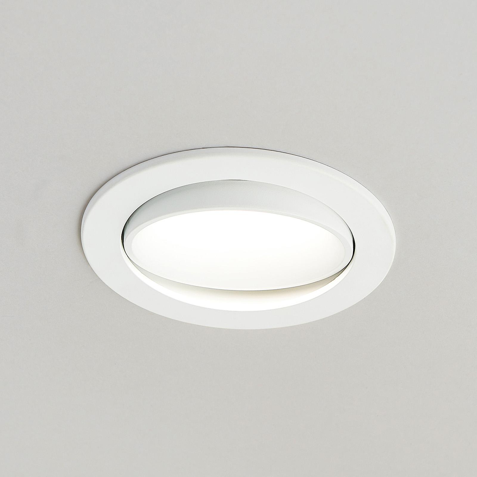 Arcchio Katerin LED-innfellingslampe, hvit dreibar