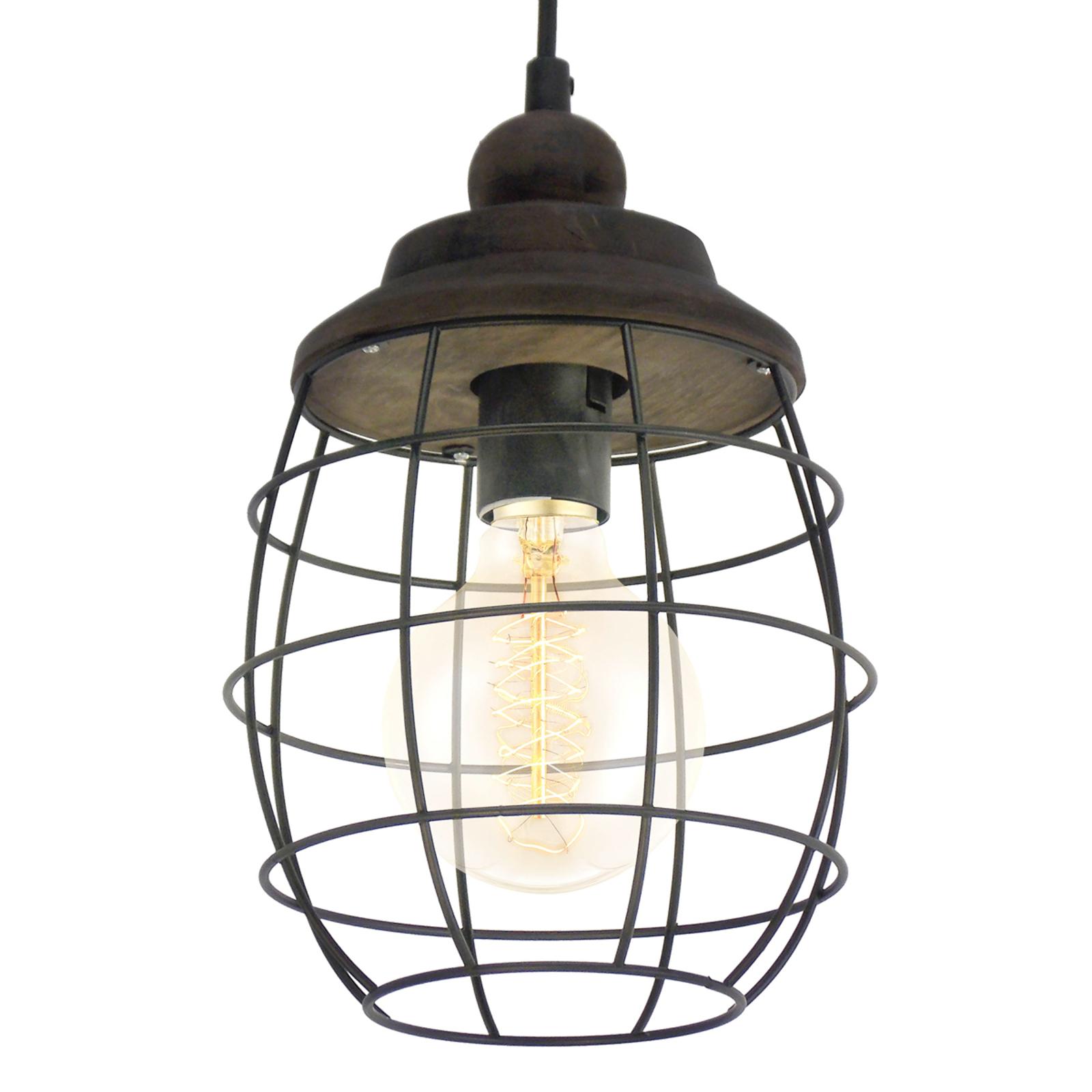 Rustykalnie zaprojektowana lampa wisząca Bampton