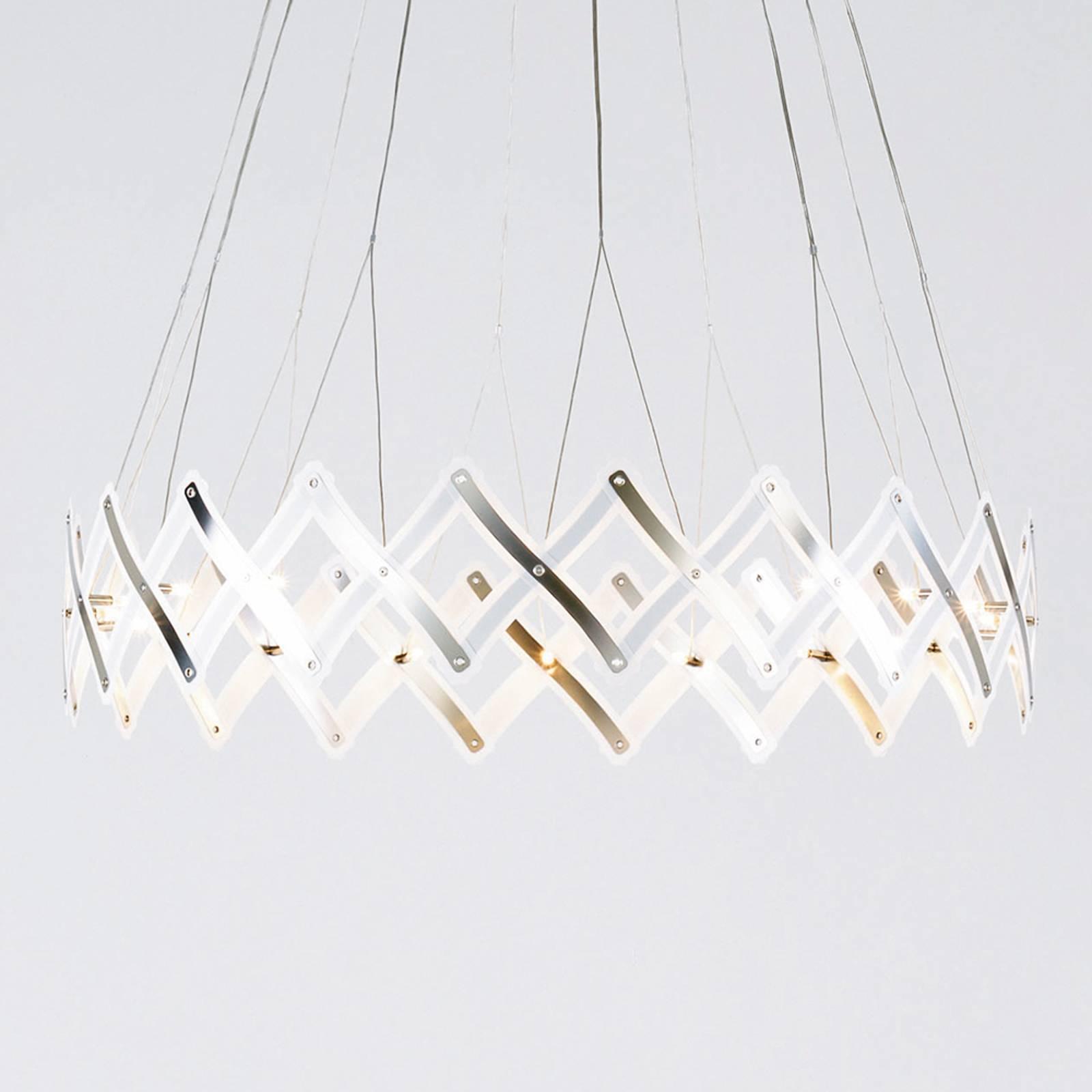 Lampa wisząca LED Zoom, kratka nożycowa