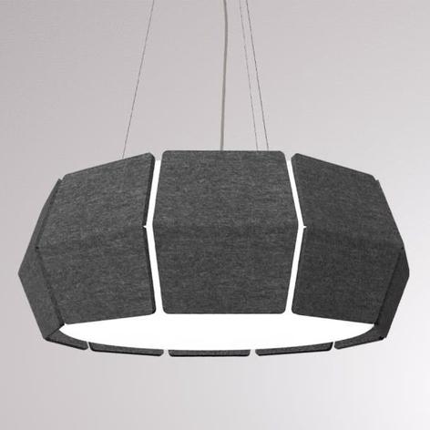 LOUM Decafelt lámpara colgante LED acústica negro