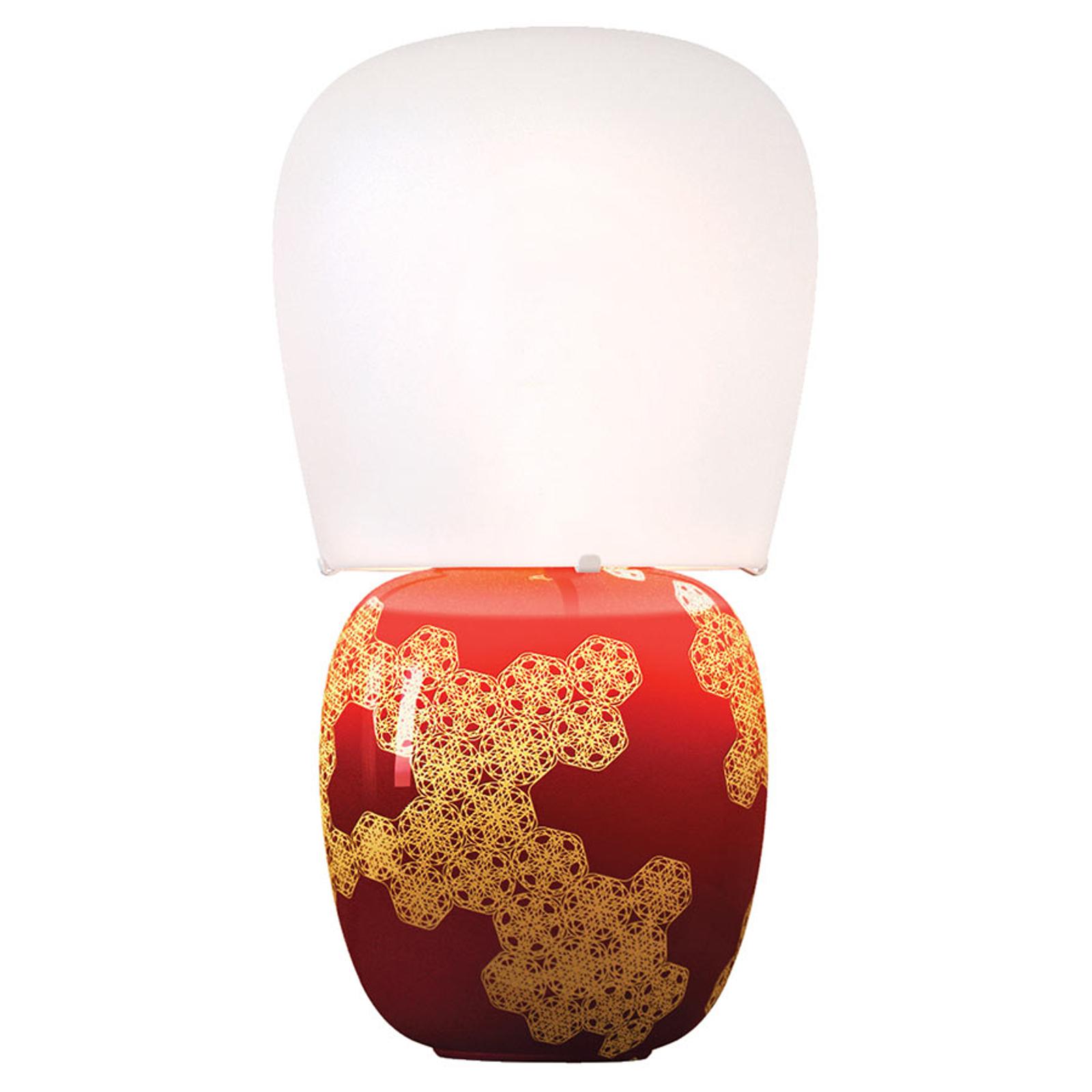 Kundalini Hive - lampe à poser en céramique, rouge