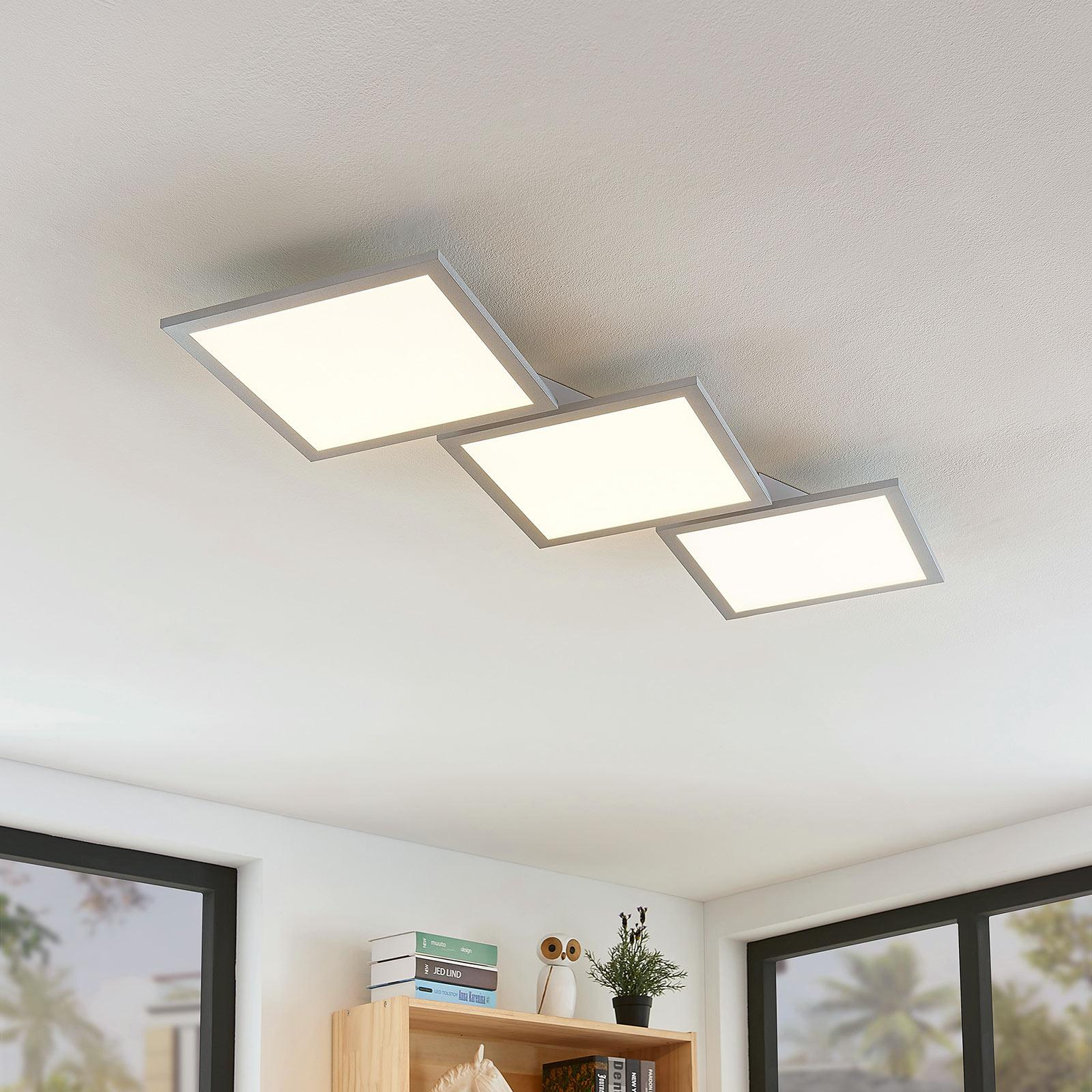 Plafoniera LED Ilira, dimmerabile, CCT, 3 luci