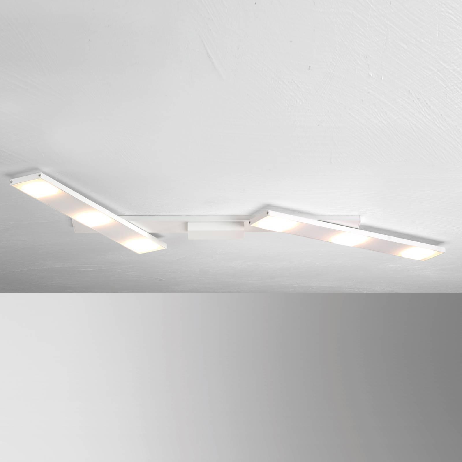 Zwenkbare LED plafondlamp Slight, wit