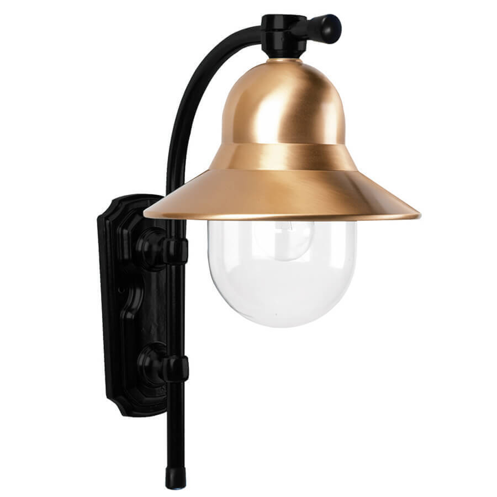 Tijdloze buitenwandlamp Toscane, zwart