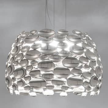 Nikkelfarget LED-pendellampe Anish