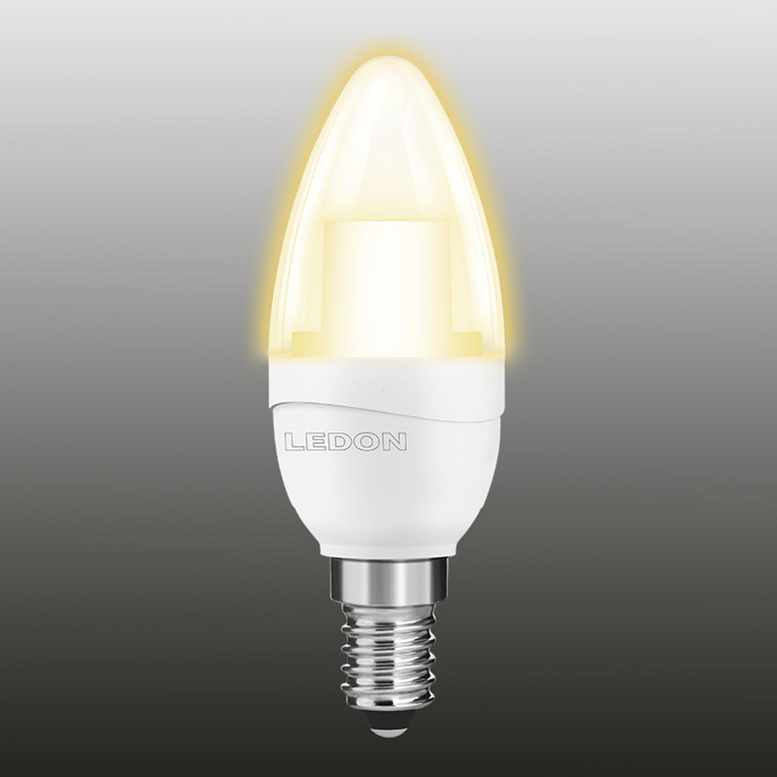 Lampadina cand. LED 927 5W E14 trasp., non dimm.