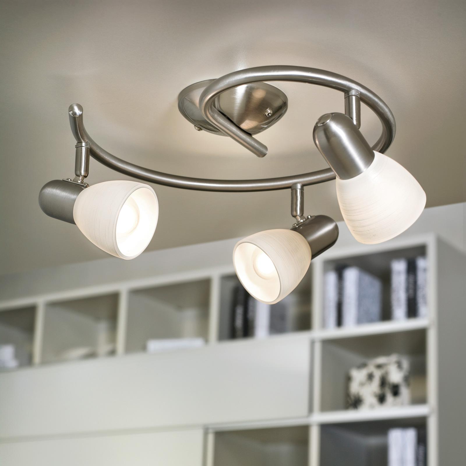 Plafonnier étonnant Dake, 3 ampoules
