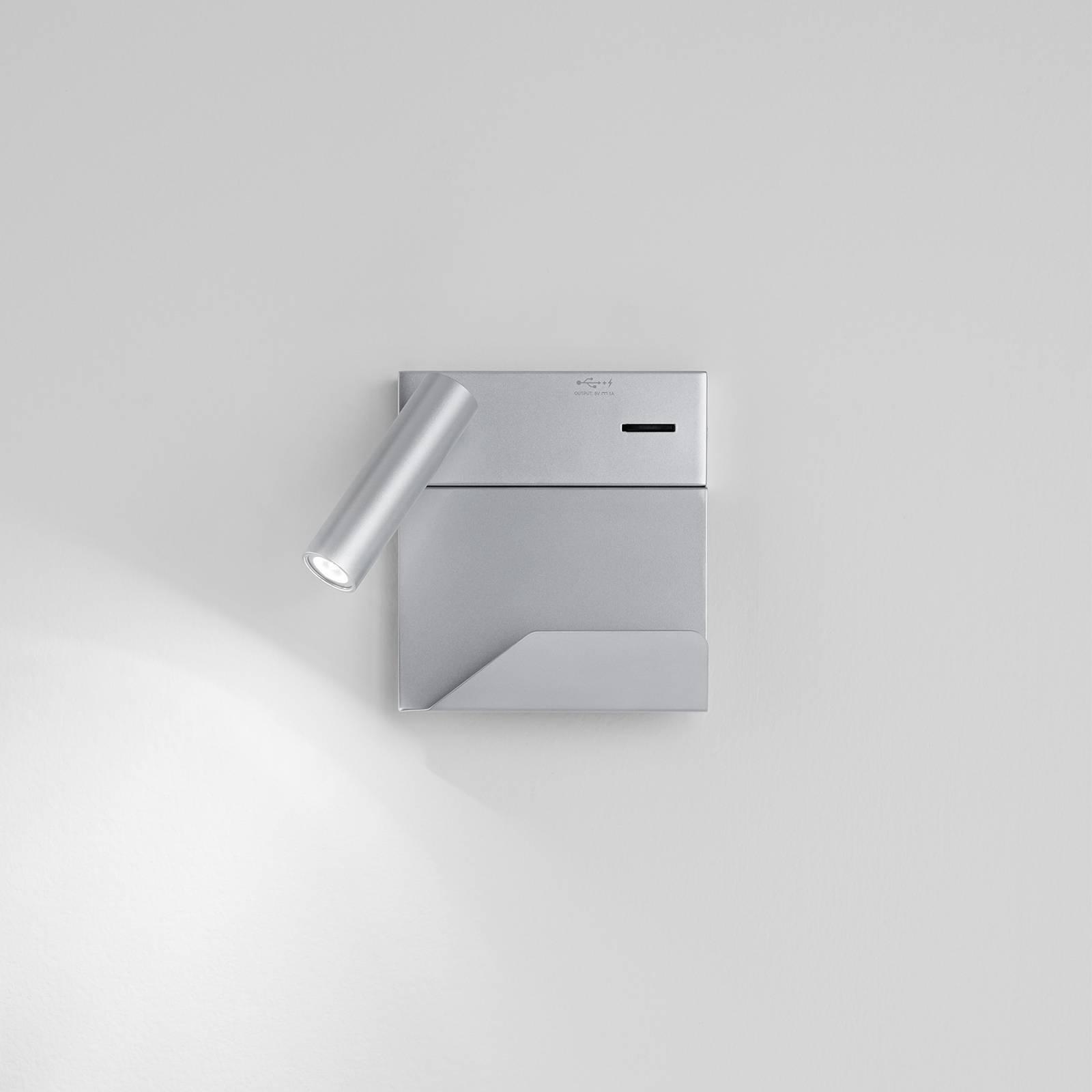 Egger Rona LED-Wandleuchte mit USB-Port und Ablage