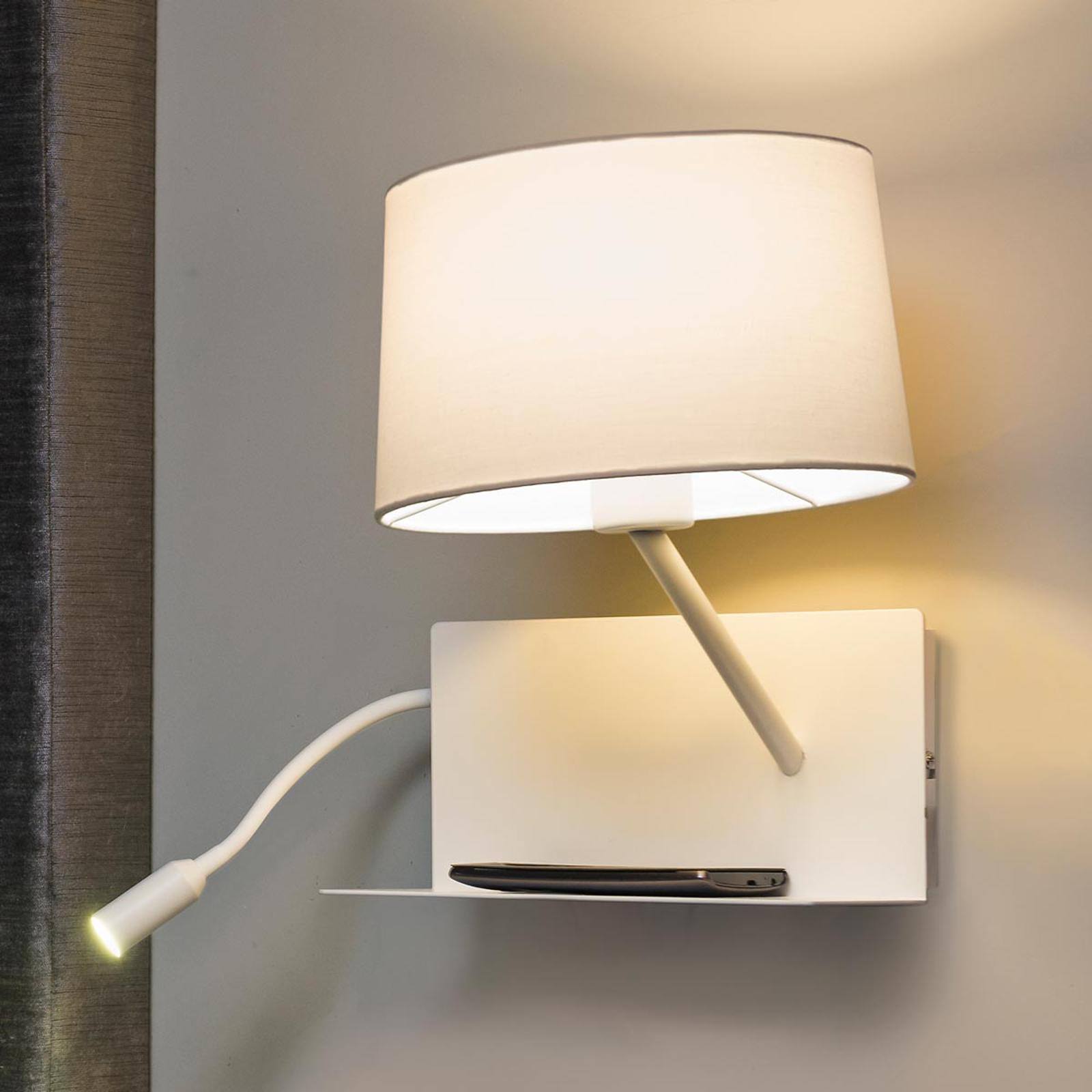 Praktische wandlamp Handy met LED-leesarm