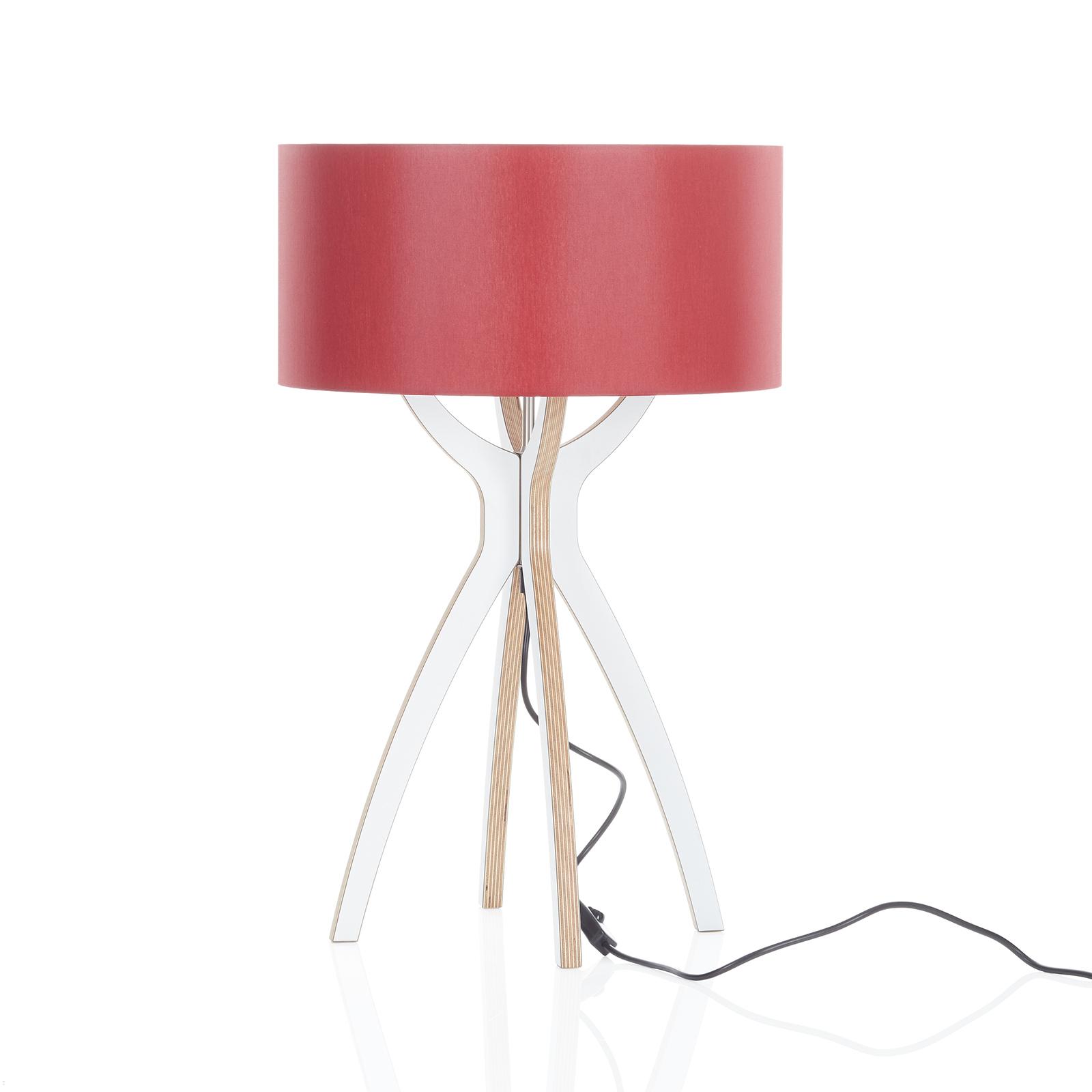 B-Leuchten Body bordlampe, træ, rød