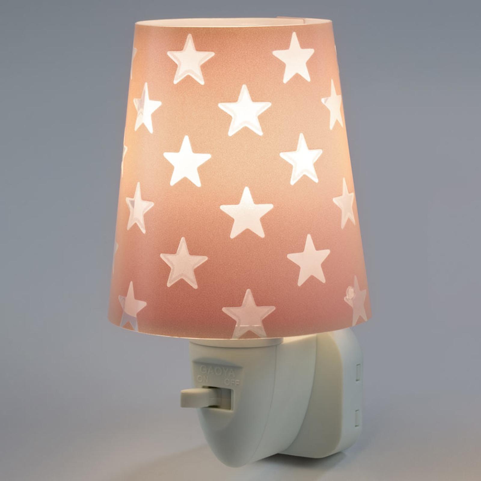 Stars - lampka nocna LED pomarańczowa, przełącznik