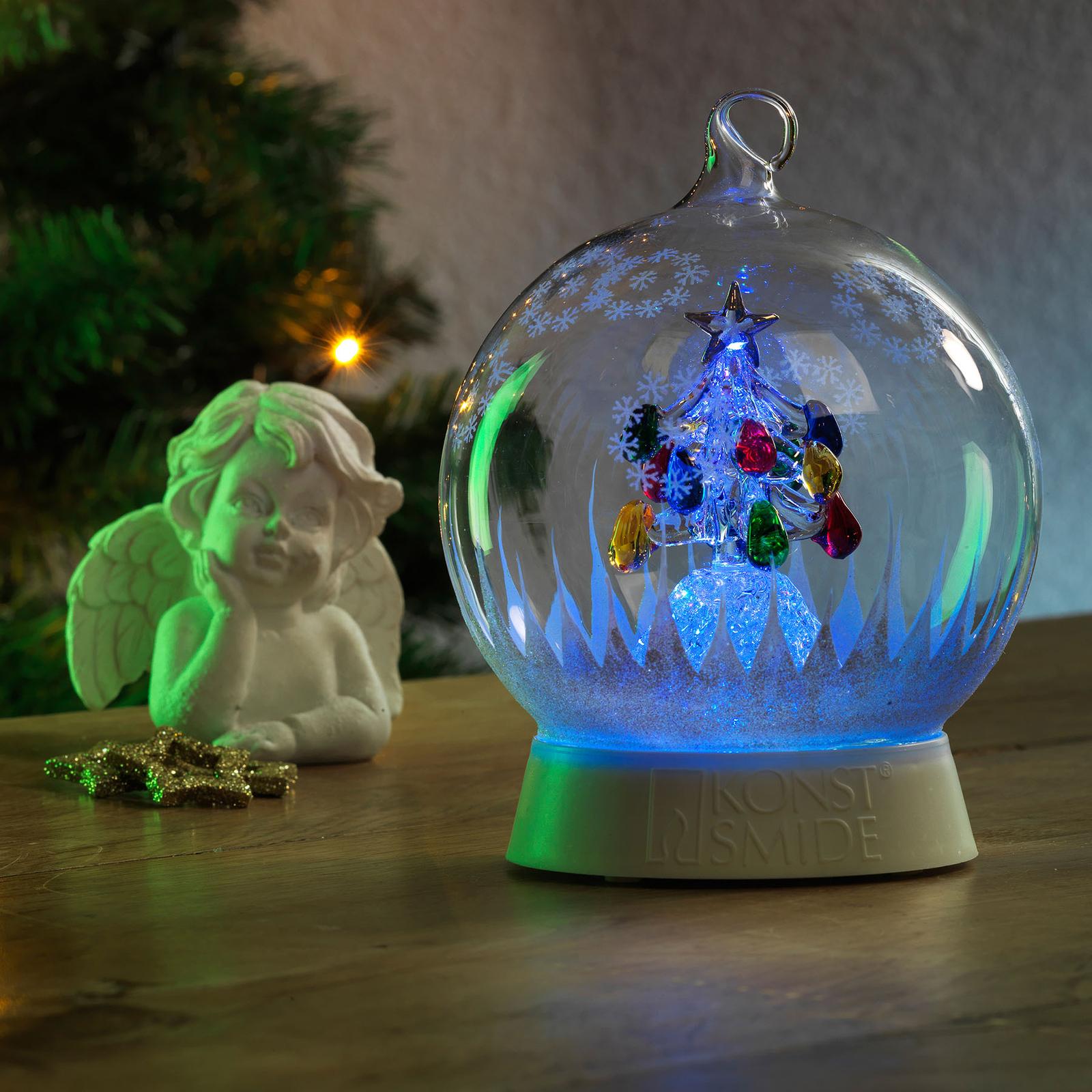 Lampada LED decorativa boccia di vetro con albero