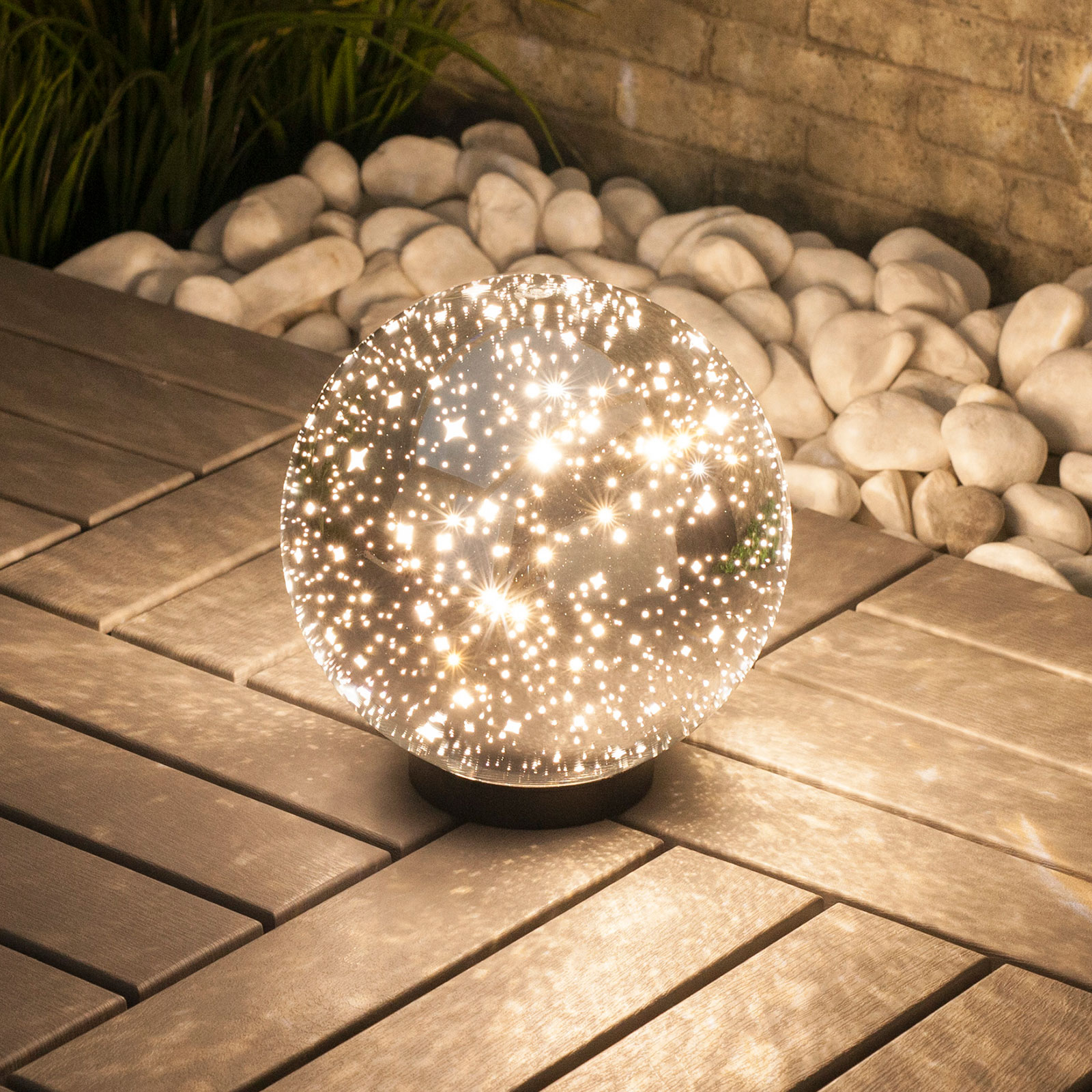 Lindby Kamui lampada LED decorativa, Ø 20 cm