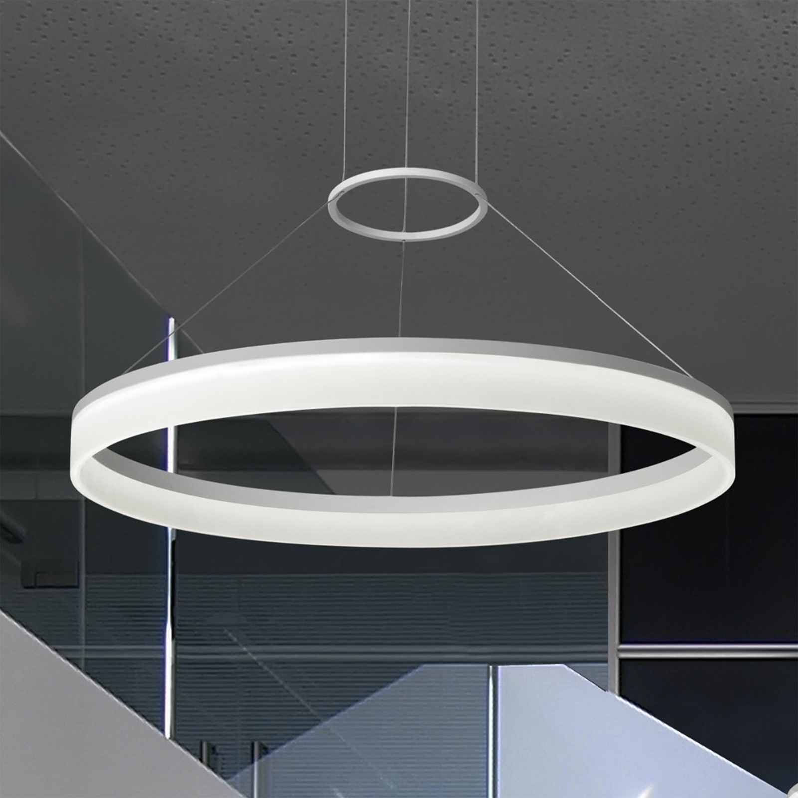 Suspension moderne LED CIRC 80 cm