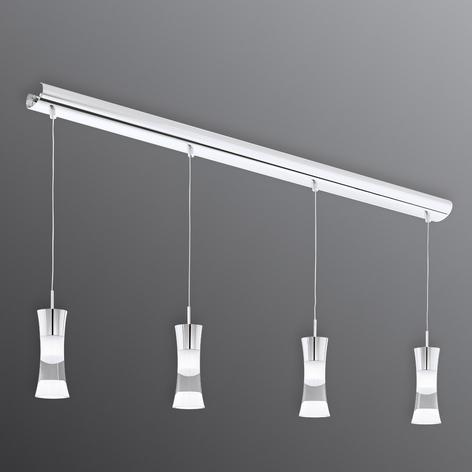 4zdr. závěsné světlo LED Pancento z oceli