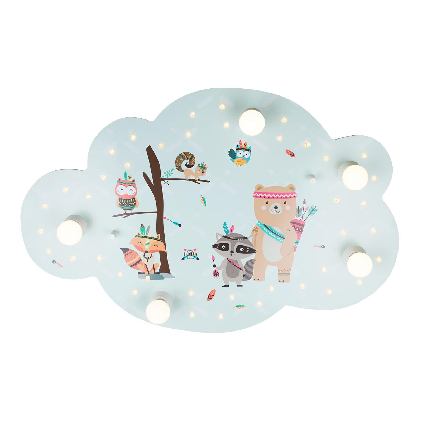 Plafonnier Little Indians nuage, menthe