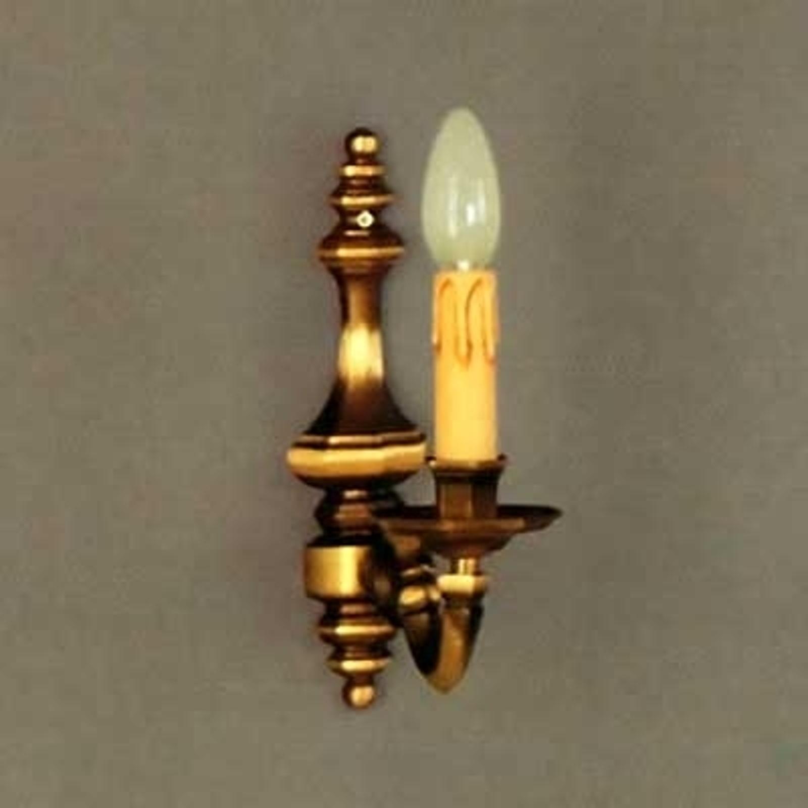 Wandlamp Imke 1lamps oudmessing