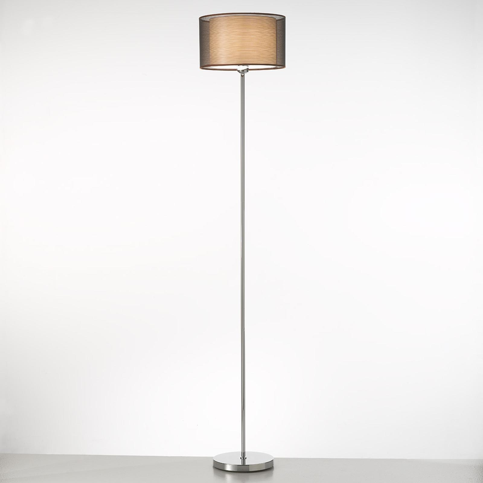Elegancka lampa stojąca BONNIE z mater. abażurem