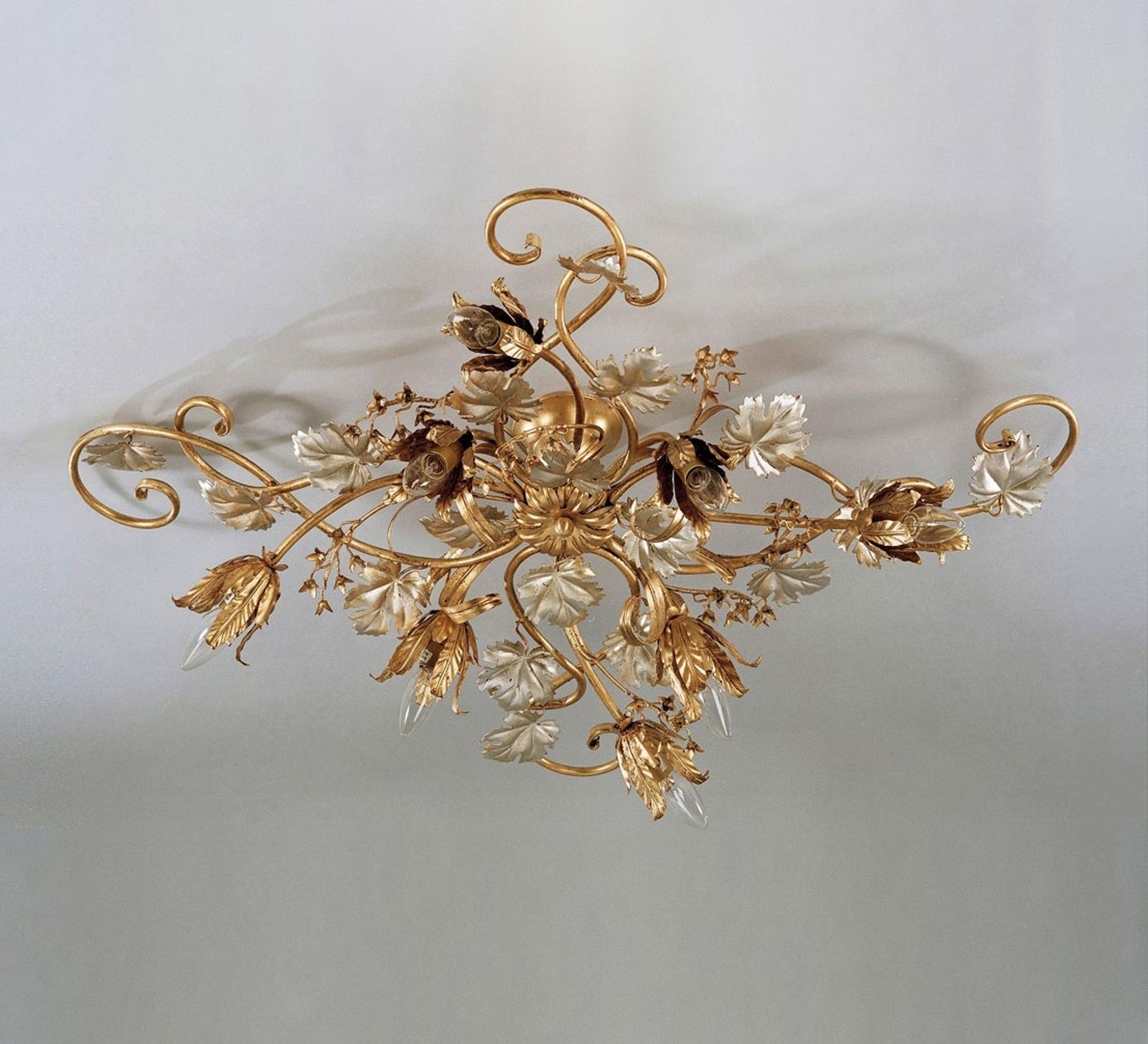 Velké matně zlaté stropní světlo Marian