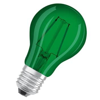 OSRAM LED-Lampe E27 Star Décor Cla A 2,5W, grün
