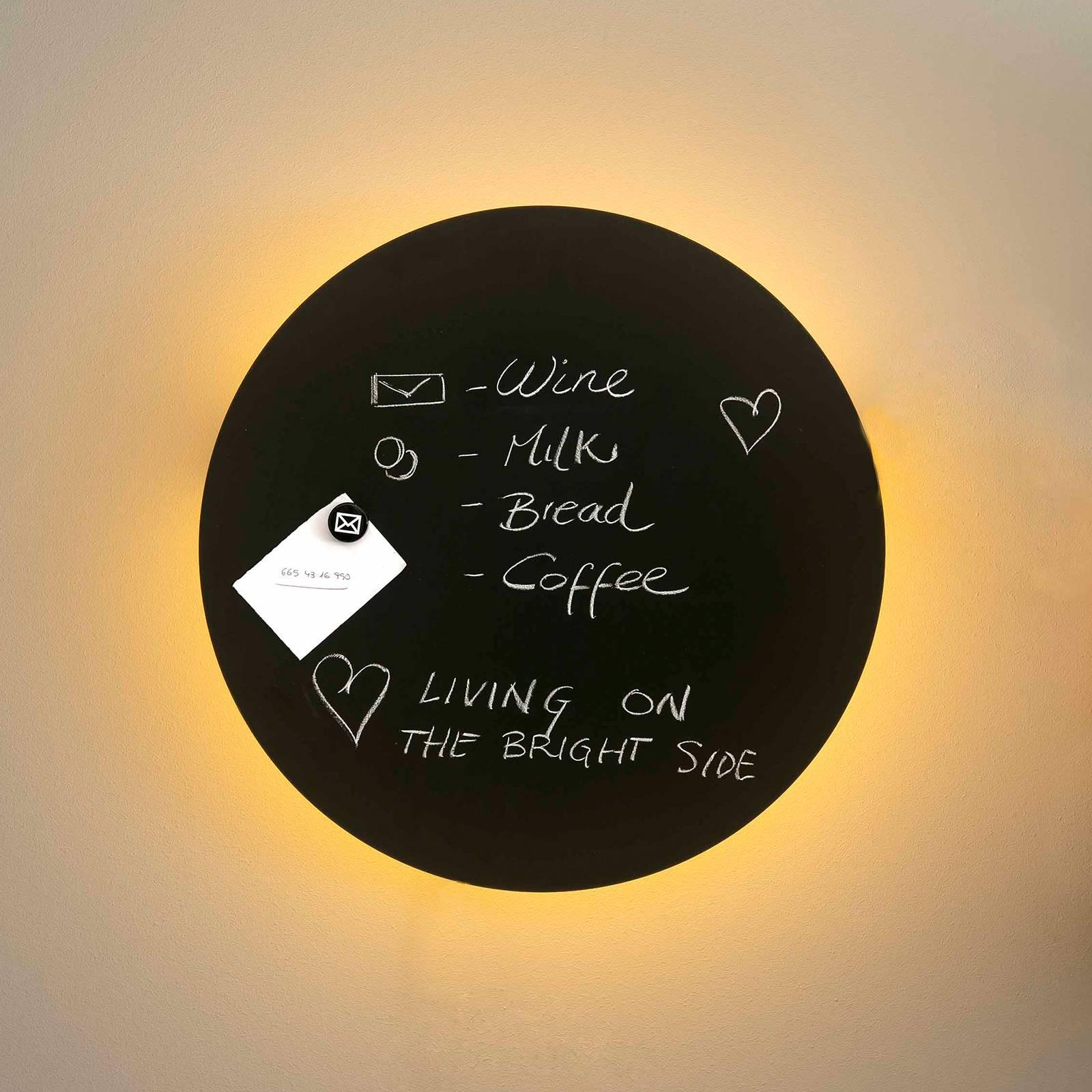 Wandlamp Board met LEDs, beschrijfbaar, 45 cm