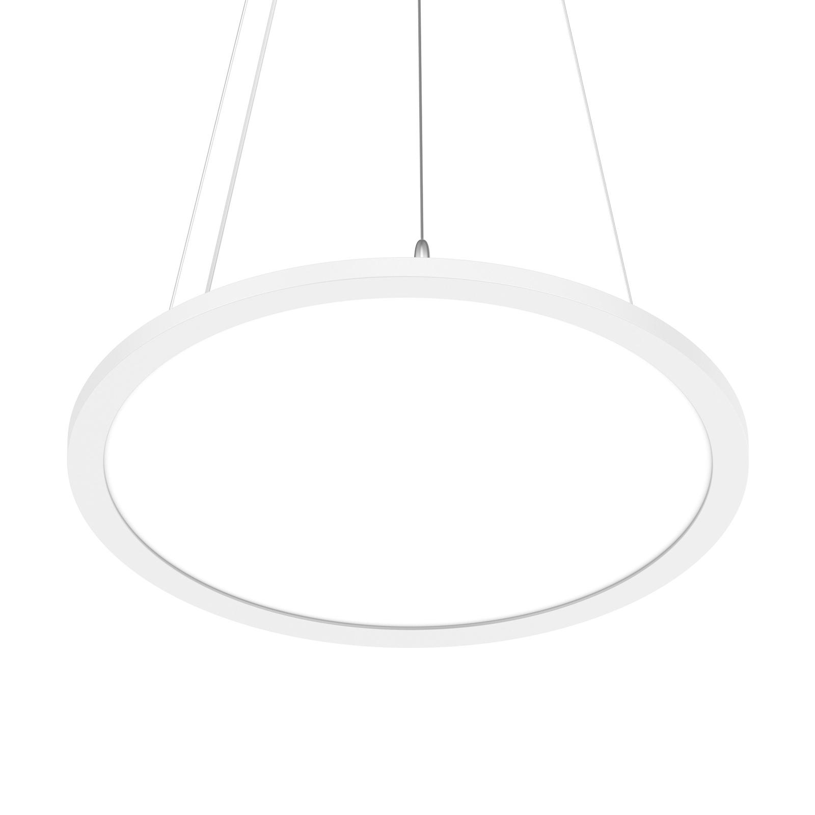 Prios Palino LED-Hängeleuchte, 30 cm, in Weiß