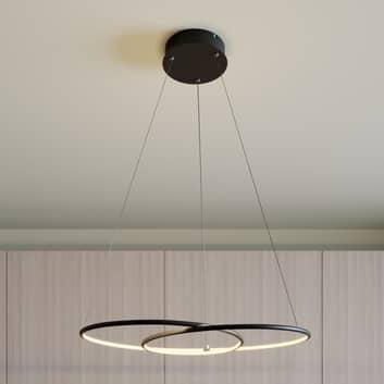 Lindby Lucy LED-hänglampa, 70 cm, matt svart