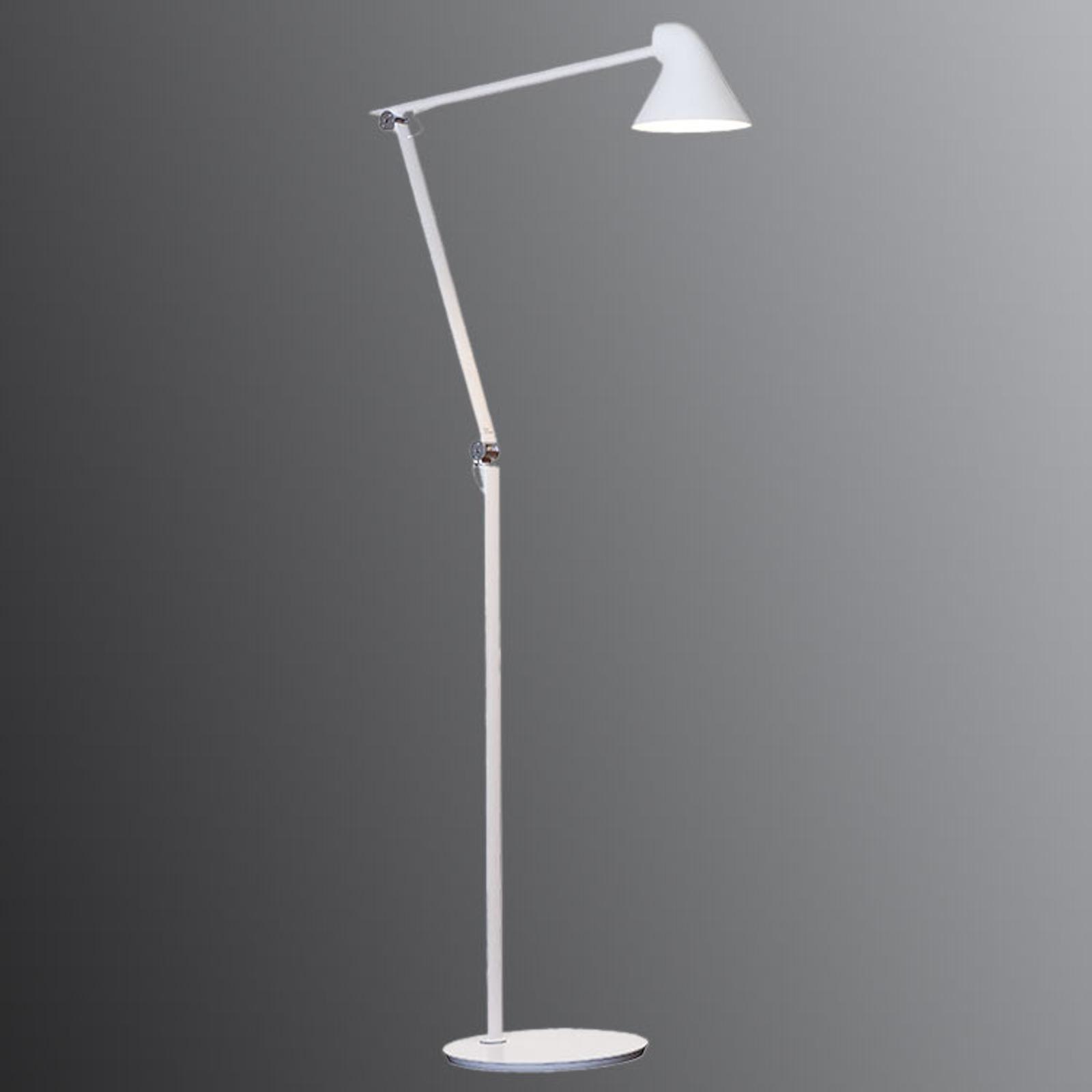 Instelbare LED vloerlamp NJP in wit