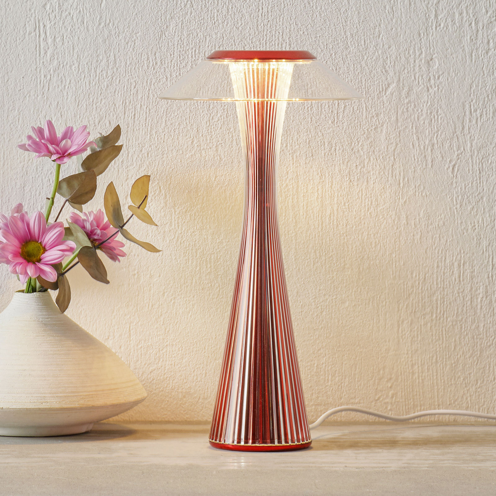 Kartell Space LED-bordlampe rød Limited Edition