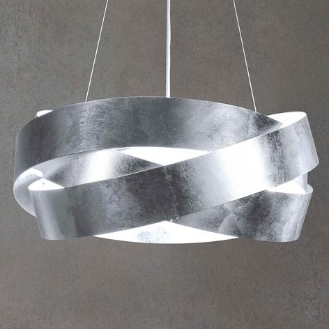 Závěsné světlo LED Pura s lístkovým stříbrem