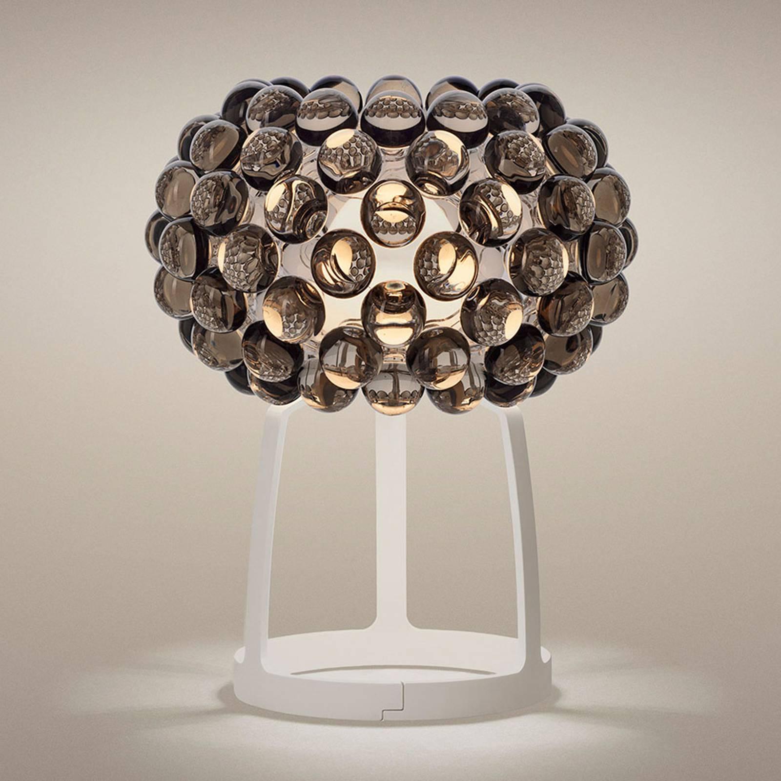 Foscarini Caboche Plus LED-Tischleuchte rauchgrau