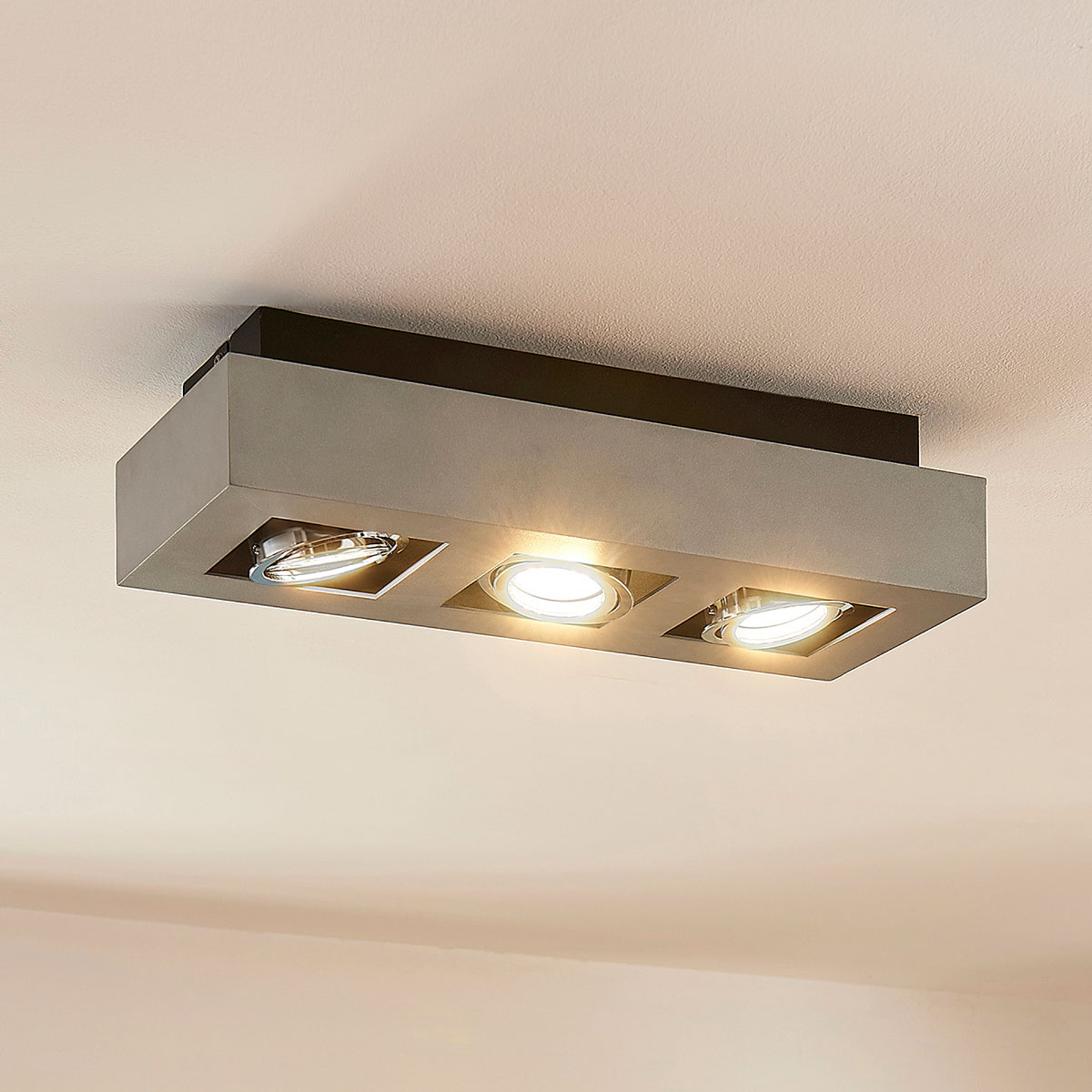3-punktowa lampa sufitowa LED VINCE