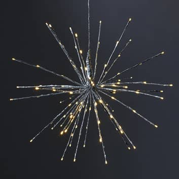 LED dekorační světlo Firework, 5 variant, stříbro