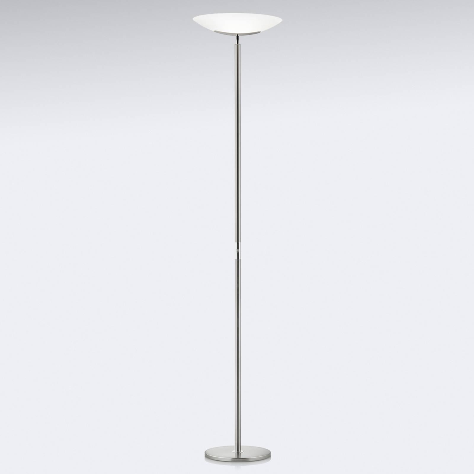Hoogwaardige LED uplighter Mika in nikkel-chroom