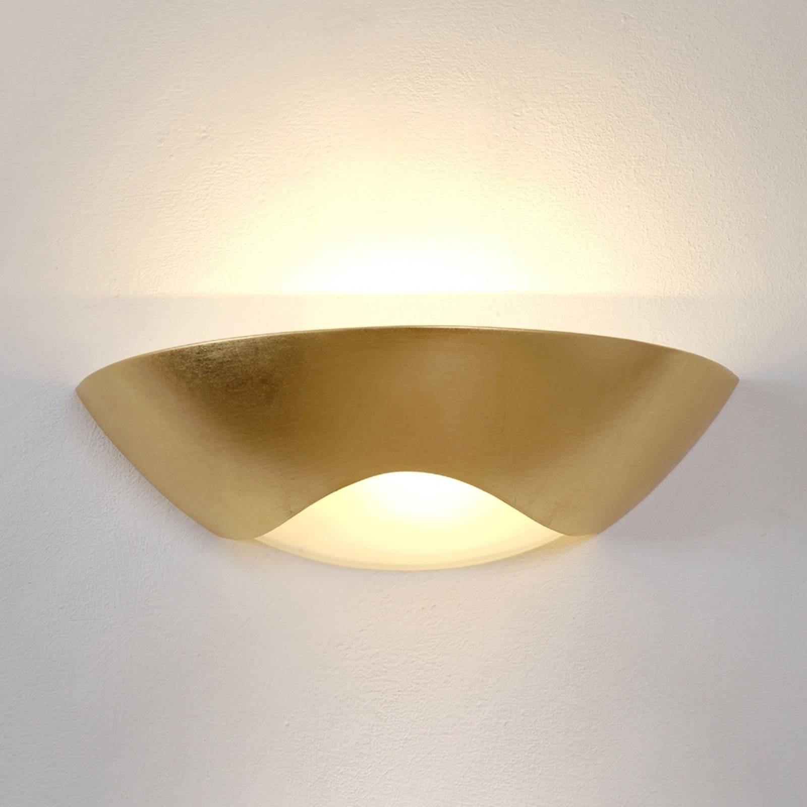 Stijlvolle wandlamp Matteo Curve goud