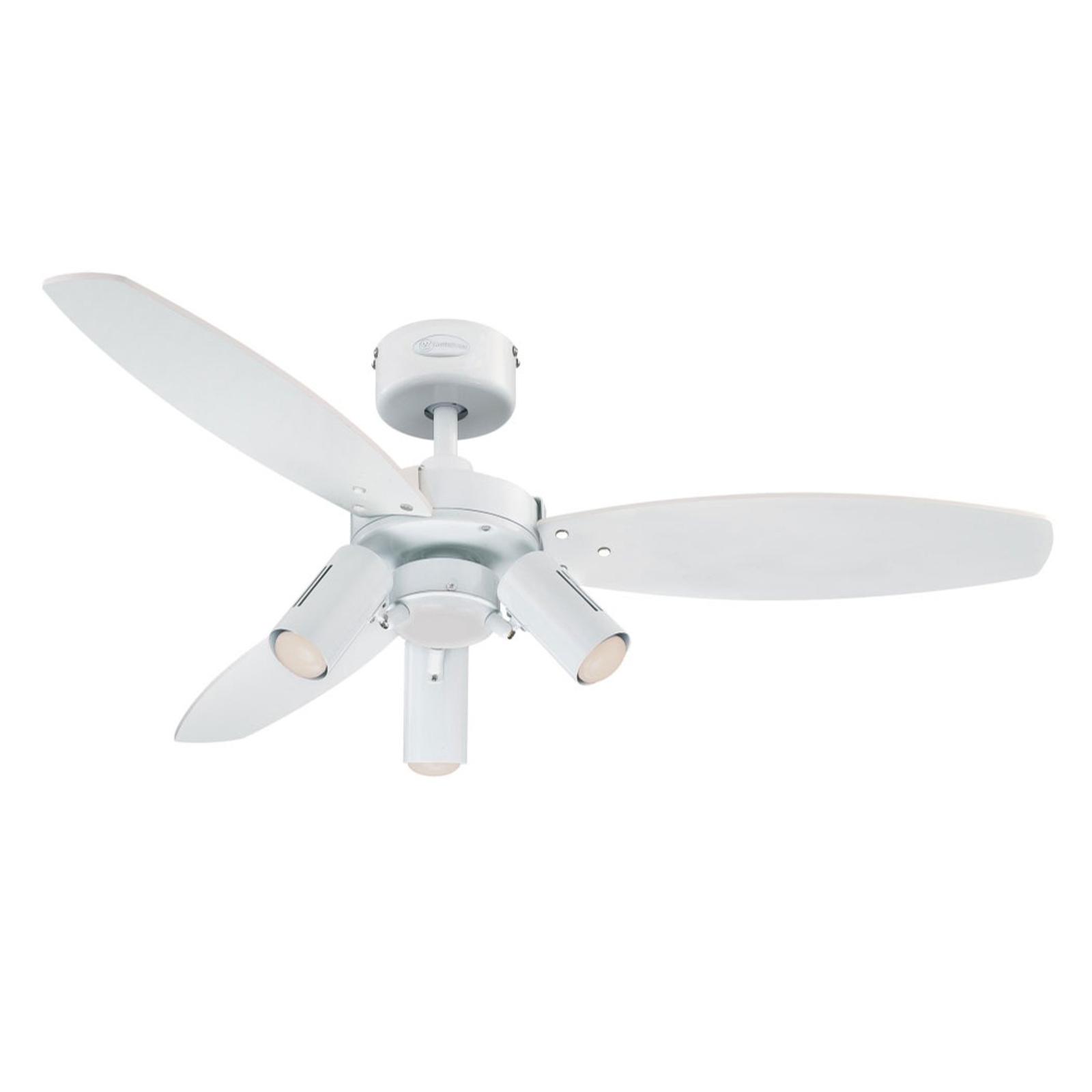 Westinghouse Jet Plus Ventilator m. Licht 3-flg.