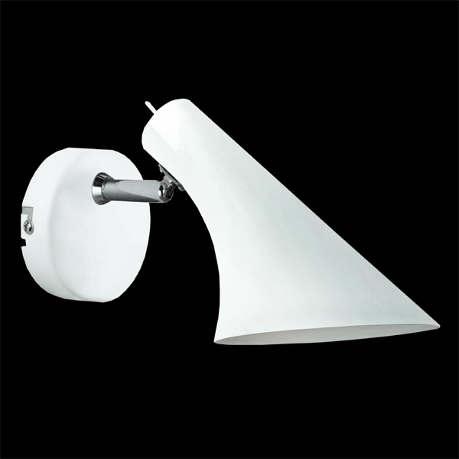 Moderne flexibele wandlamp Liam, wit