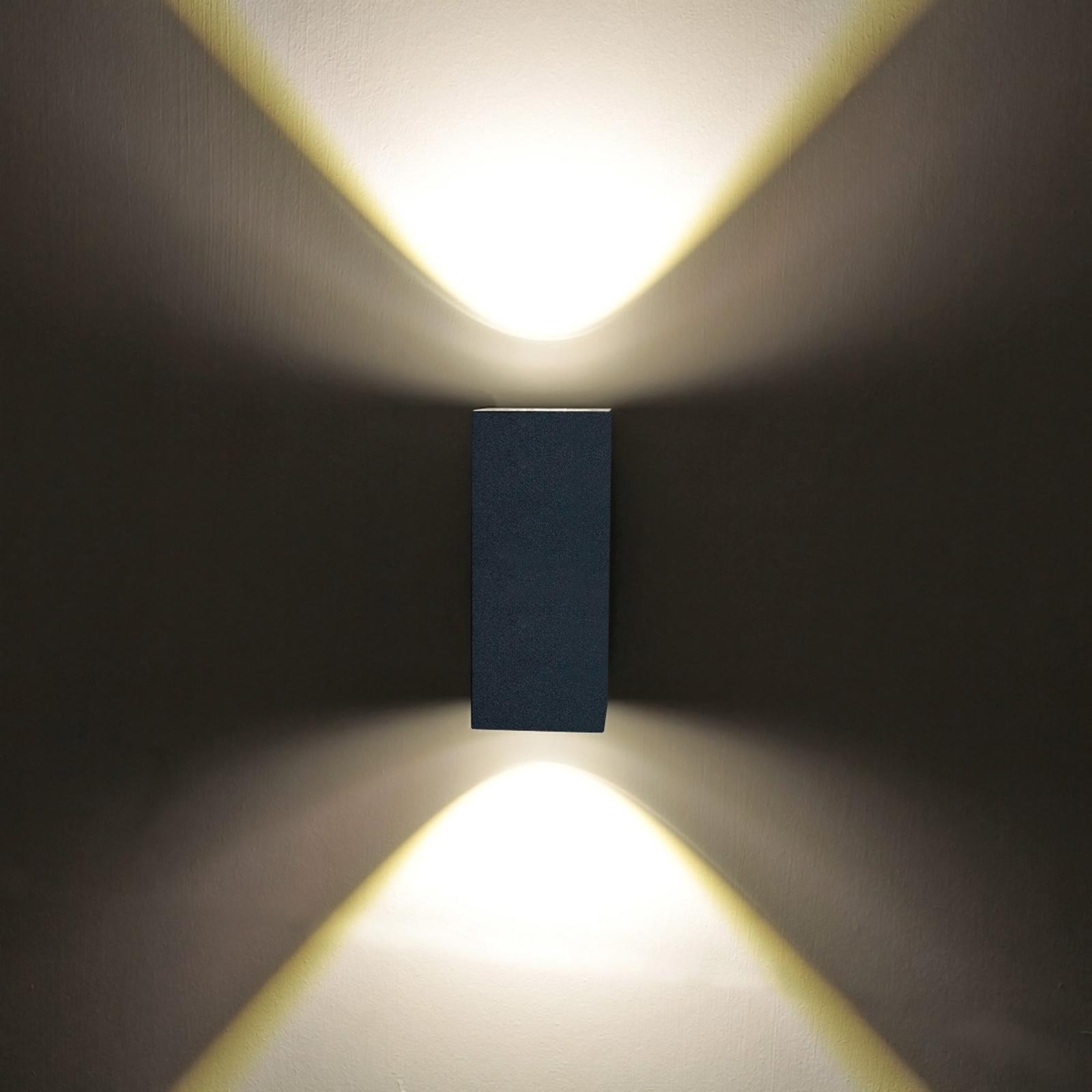 Udendørs væglampe Tavi m. 2 Bridgelux LED'er á 5 W