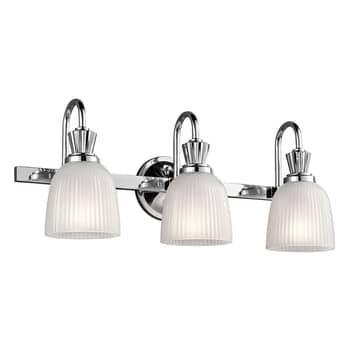 LED-bad- vägglampa Cora 3 lampor