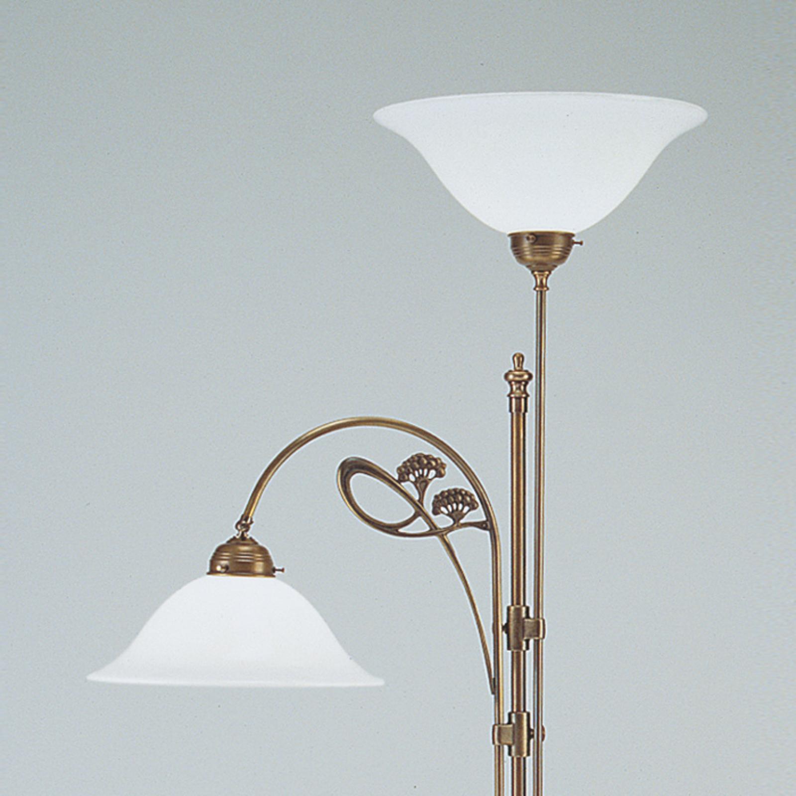 Lampadaire en laiton ALWINE avec deux lampes