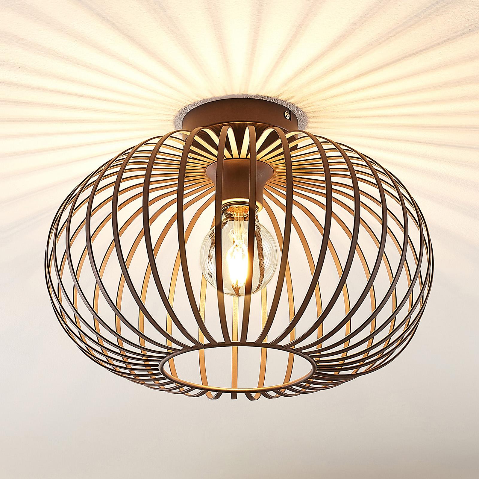Lindby Nahele lámpara de techo, pantalla de jaula