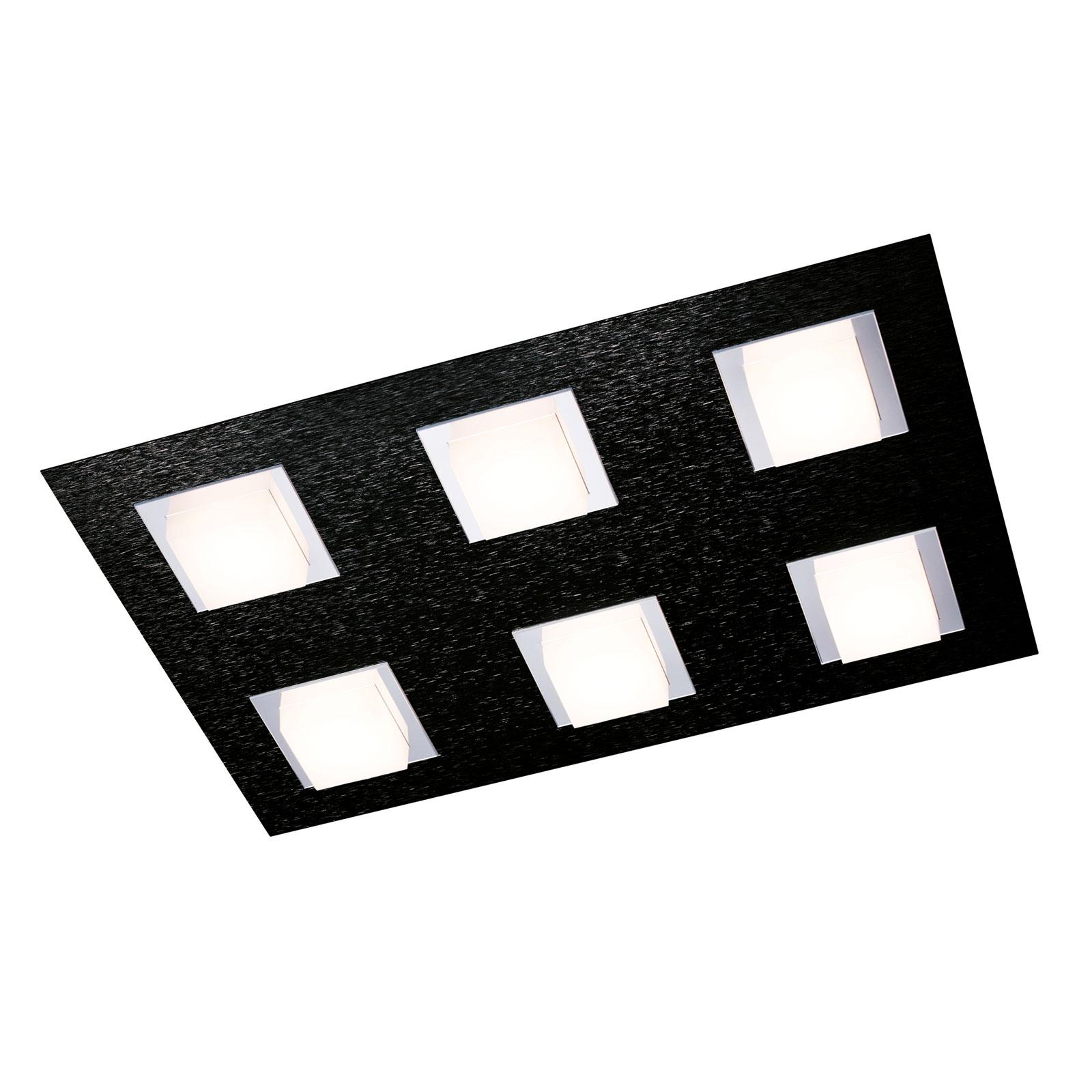 GROSSMANN Basic taklampe, 6 lyskilder, svart