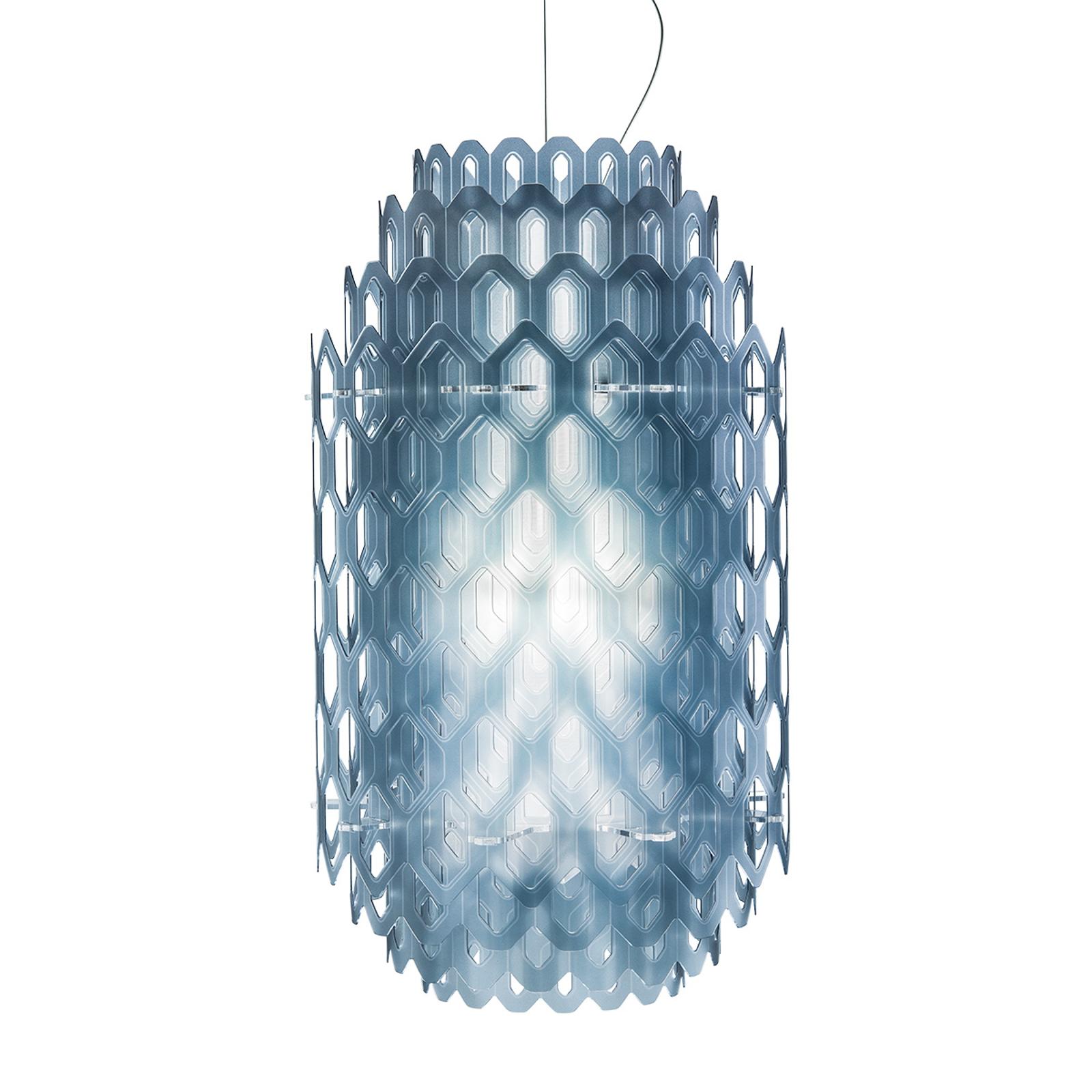 Chantal LED designer hanging light in blue_8503274_1
