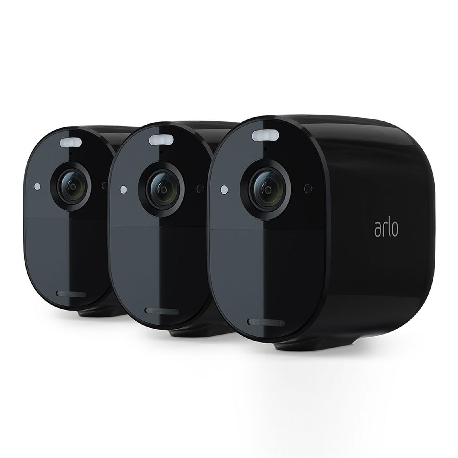 Arlo Essential set de 3 caméras noires