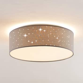 Lindby Ellamina plafonnier LED, 40cm, gris clair